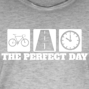 Perfect Day - Rennrad - Road Cycling - Männer Vintage T-Shirt