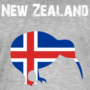 Nation-konstruktion Nya Zeeland - Vintage-T-shirt herr