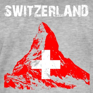 Nation-Design Switzerland Matterhorn - Männer Vintage T-Shirt