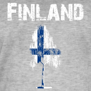 Nation-Design Finland Birch - Men's Vintage T-Shirt