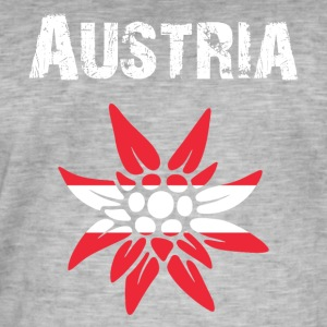 Nation-Design Østerrike Edelweiss - Vintage-T-skjorte for menn