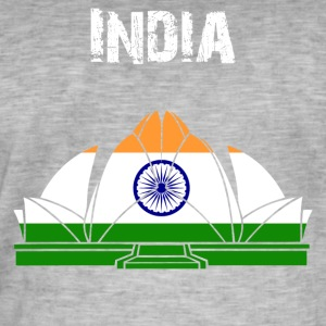 Nation-Design Indien Lotus - Herre vintage T-shirt