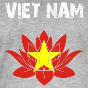 Nation utforming Viet Nam Lotus - Vintage-T-skjorte for menn