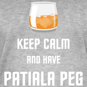 Keep Calm and have a Patiala (large) peg - Men's Vintage T-Shirt