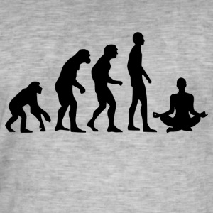 Human Evolution Yoga - Männer Vintage T-Shirt