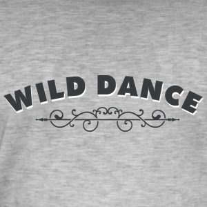 WILD DANCE med ornament - Vintage-T-skjorte for menn
