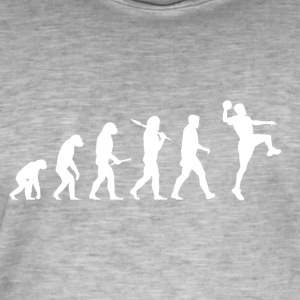 Evolution Handball! Sports! Handbal grappig! - Mannen Vintage T-shirt