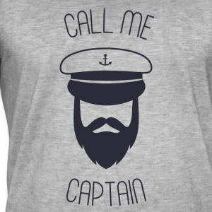 Call me captain - Männer Vintage T-Shirt