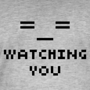 Watching You - T-shirt vintage Homme