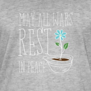 May All Wars Rest In Peace - Vintage-T-skjorte for menn