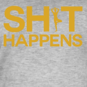 Shit Happens - Yoga Within - Men's Vintage T-Shirt