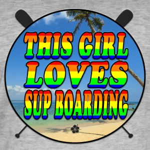 SUP BOARDING LOVE - Mannen Vintage T-shirt