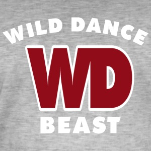 WILD DANCE BEAST - Men's Vintage T-Shirt