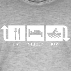 Eat Sleep Row Gjenta - Vintage-T-skjorte for menn