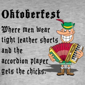 Oktoberfest Accordion Player - T-shirt vintage Homme