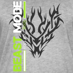 Beast Mode Tribal - Männer Vintage T-Shirt