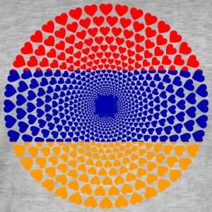 Armenia Armenia Love heart mandala - Men's Vintage T-Shirt