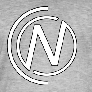 NC White Logo - Men's Vintage T-Shirt