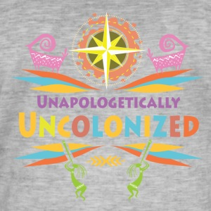 Uncolonised. - Mannen Vintage T-shirt