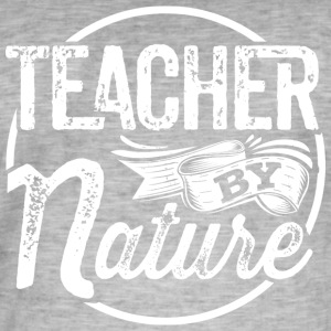 Teacher by Nature - Männer Vintage T-Shirt