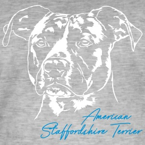 Staffordshire TERRIER - T-shirt vintage Homme