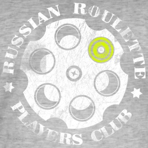 Russisk Roulette Players Club - Herre vintage T-shirt