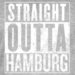 Straight Outta Hamburg - Vintage-T-skjorte for menn