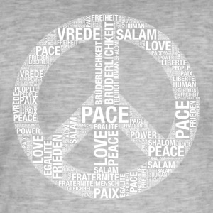 Vrede, Pace, Paix, Salaam, Shalom, Vrede! - Mannen Vintage T-shirt
