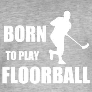 Floorball - Herre vintage T-shirt