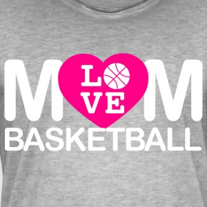 Mom love basketball - Männer Vintage T-Shirt