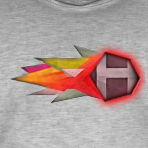 Abstract H LETTER - Mannen Vintage T-shirt