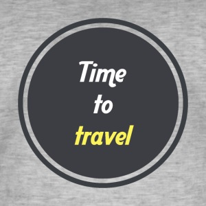 Time to travel - Circle - Men's Vintage T-Shirt