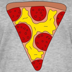 pizza - Vintage-T-skjorte for menn