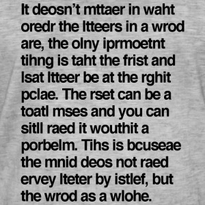 Jumbled Letters (Black) - Men's Vintage T-Shirt