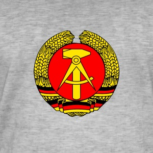 ddr Symbol former irony sed Republic Wall German - Men's Vintage T-Shirt