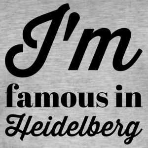 In the famous in heidelberg - Men's Vintage T-Shirt