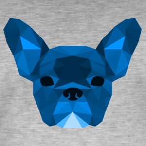 Low Poly Frenchie blue - Men's Vintage T-Shirt