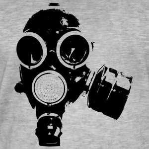 gass-mask1 - Vintage-T-skjorte for menn