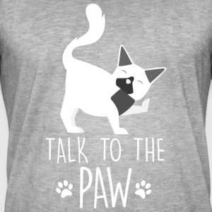 Talk to the paw - cat - Men's Vintage T-Shirt