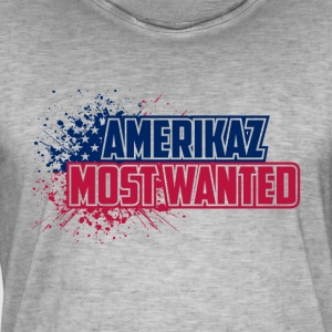 Amerikaz Most Wanted - Männer Vintage T-Shirt