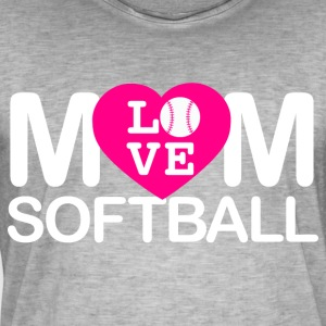Mom love softball - Männer Vintage T-Shirt