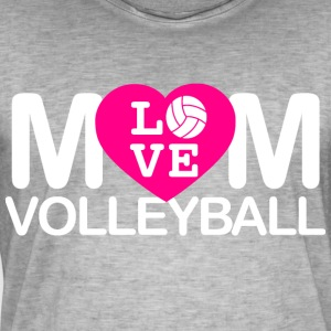 Mom liefde volleyball - Mannen Vintage T-shirt