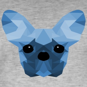 French Bulldog Low Poly Design blue - Men's Vintage T-Shirt