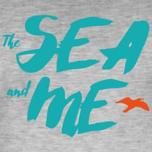 THE SEA AND ME - Männer Vintage T-Shirt