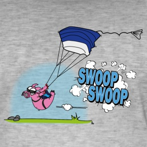 swooping Poops - Mannen Vintage T-shirt