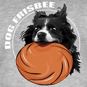 DOG FRISBEE Border Collie - Männer Vintage T-Shirt