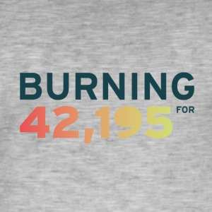 Burning for 42,195 - Men's Vintage T-Shirt