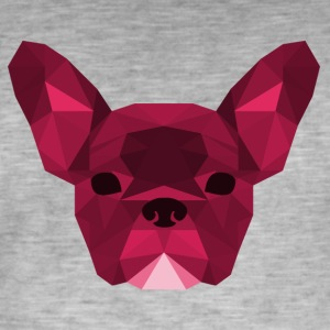 Lav Poly Frenchie lyserød - Herre vintage T-shirt