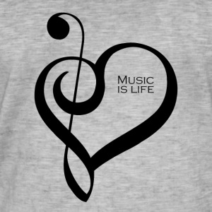 Music is life ! - T-shirt vintage Homme