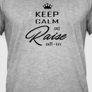 keep calm black - T-shirt vintage Homme